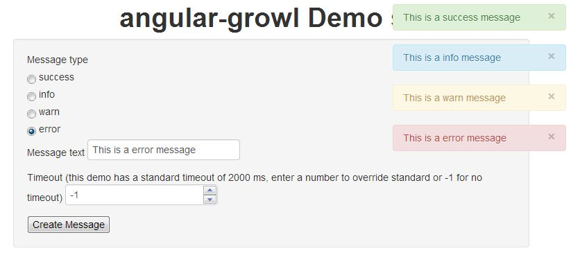 angular-growl demo project