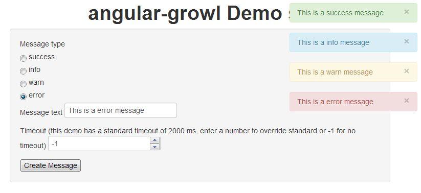 angular-growl demo project